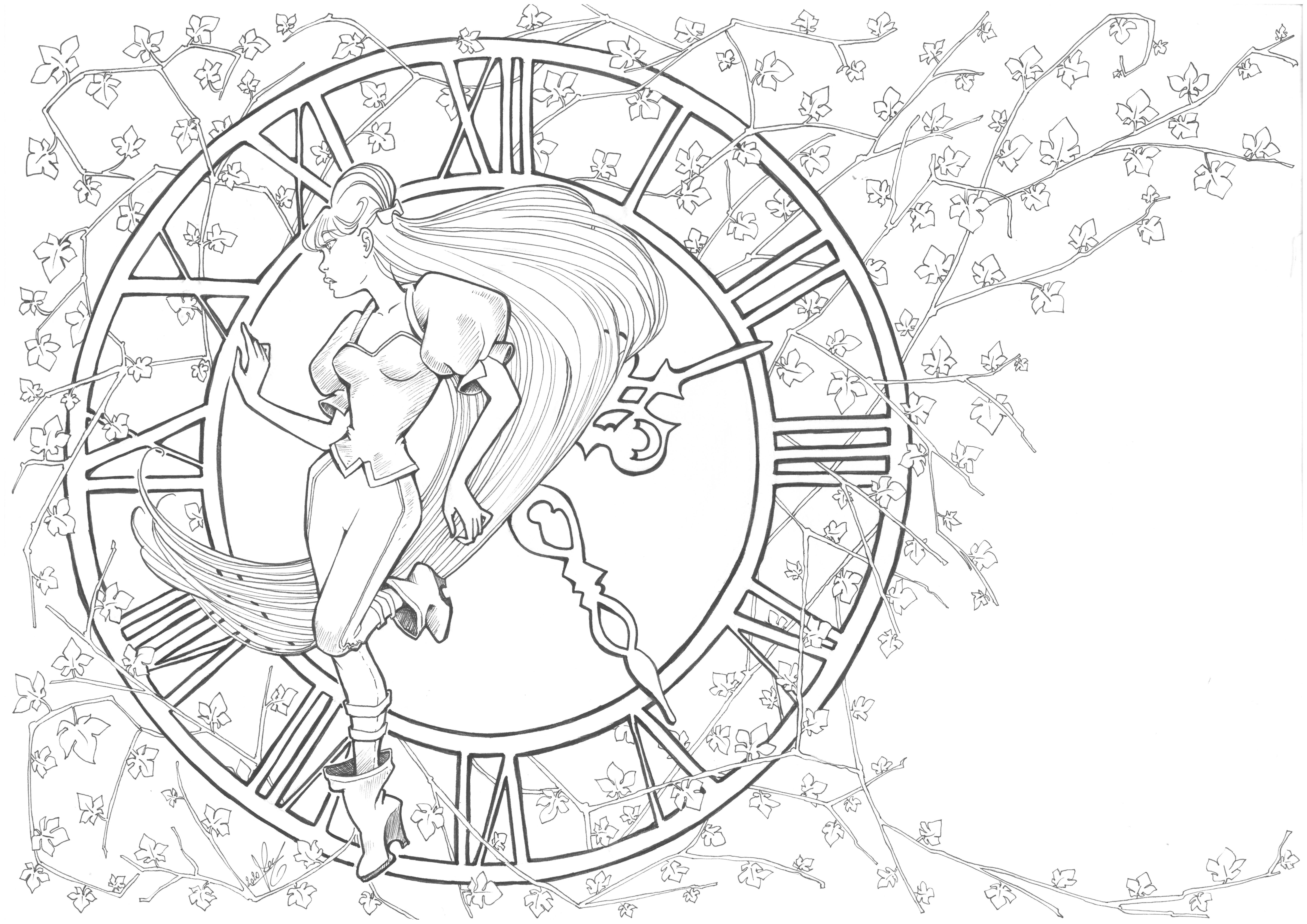 Line de l'illustration du chapitre 1 de When Time Stopped